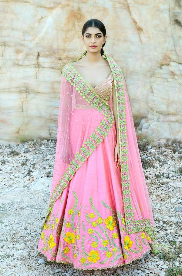 divya reddy, bridal lehenga, bridal lehenga trends, pink lehenga