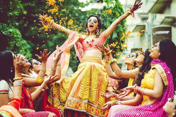 Bridesmaid photoshoot ideas, Indian bride, bridal lehenga
