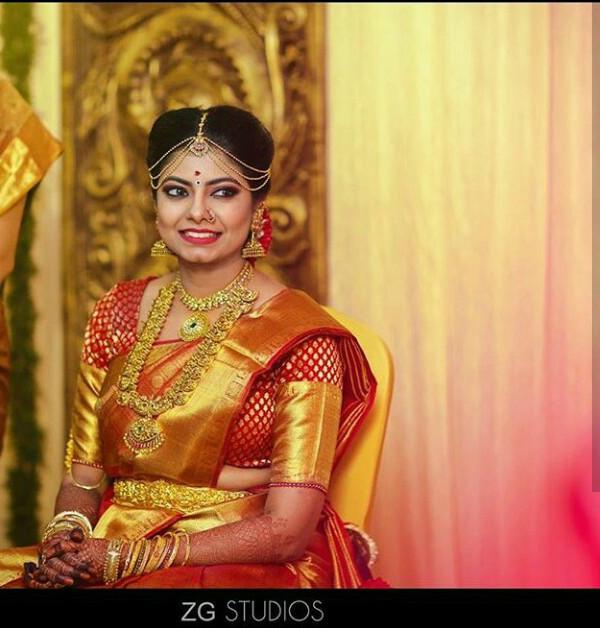 gold Kanjeevaram saree