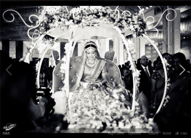 bridal entry, bridal lehenga, Indian weddings