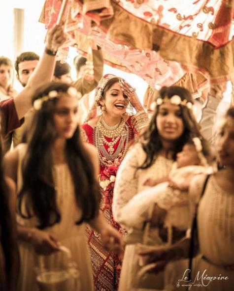bridal lehenga, bride entry, bridal entry ideas