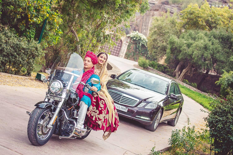bride entry, bridal entry, bride entry on bike