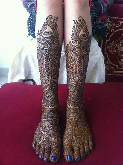hand and Feet mehendi designs