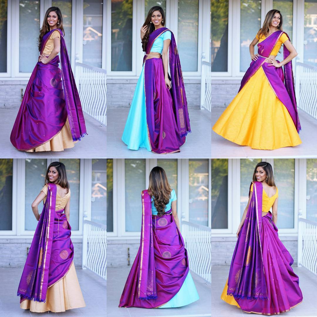 Tia Bhuva S Can Can Saree Vibrant Personality Is Giving Us Sareestyle Inspiration Shaadiwish