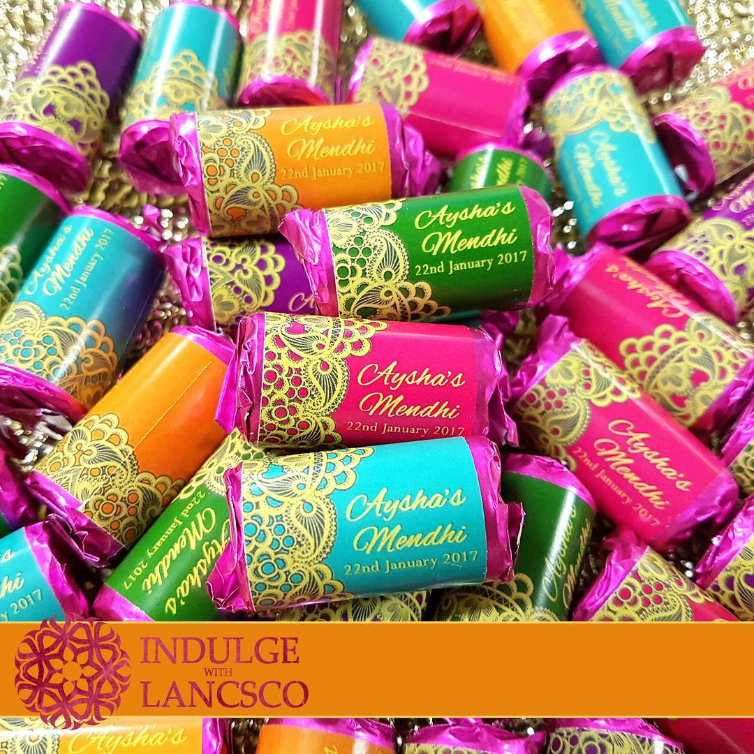 wedding personalization, wedding favors, mehendi favors
