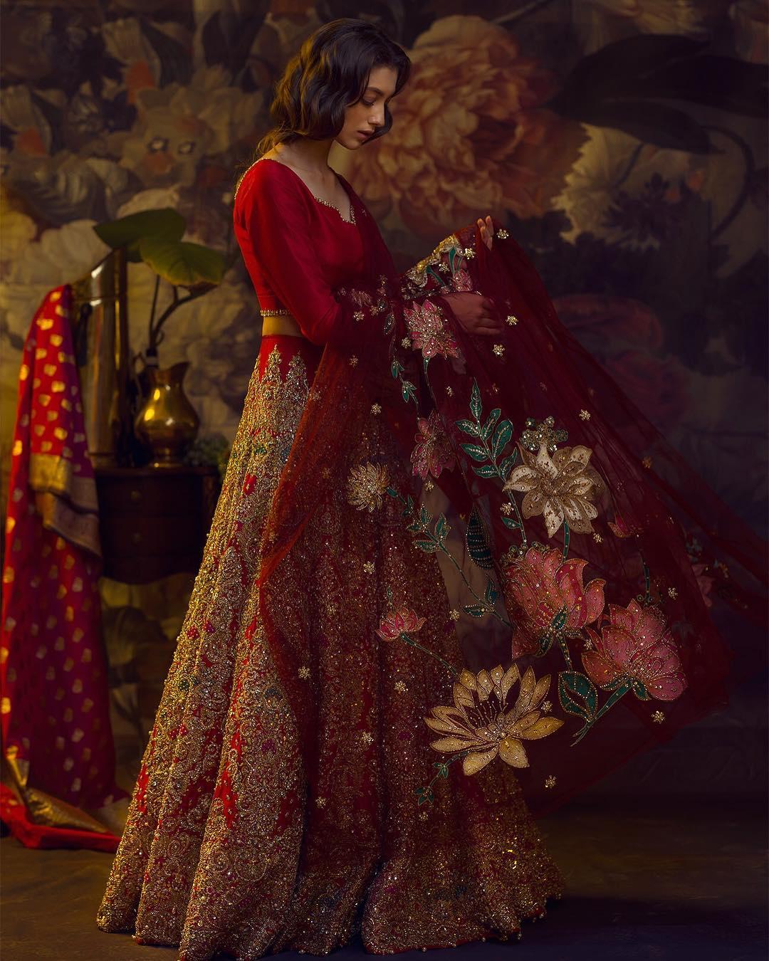 Bridal Outfit, Red lehenga