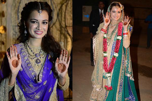 Dia Mirza, Bridal Mehendi, Mehendi Design