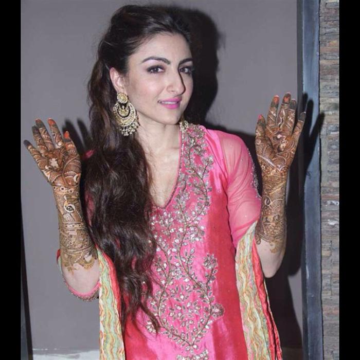 Soha Ali Khan, Bridal Mehendi, Mehendi Design