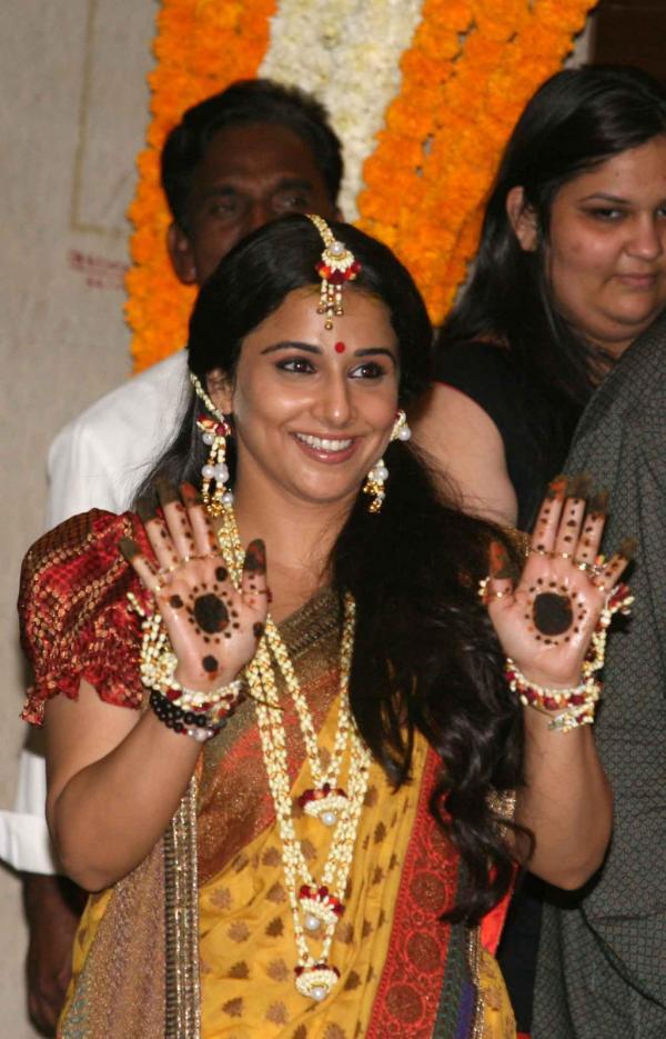 Vidya Balan, Bridal Mehendi, Mehendi Design