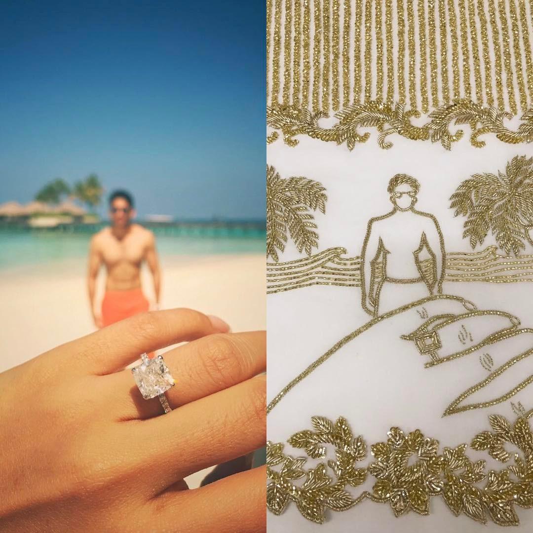 Samantha Prabhu engagement ring