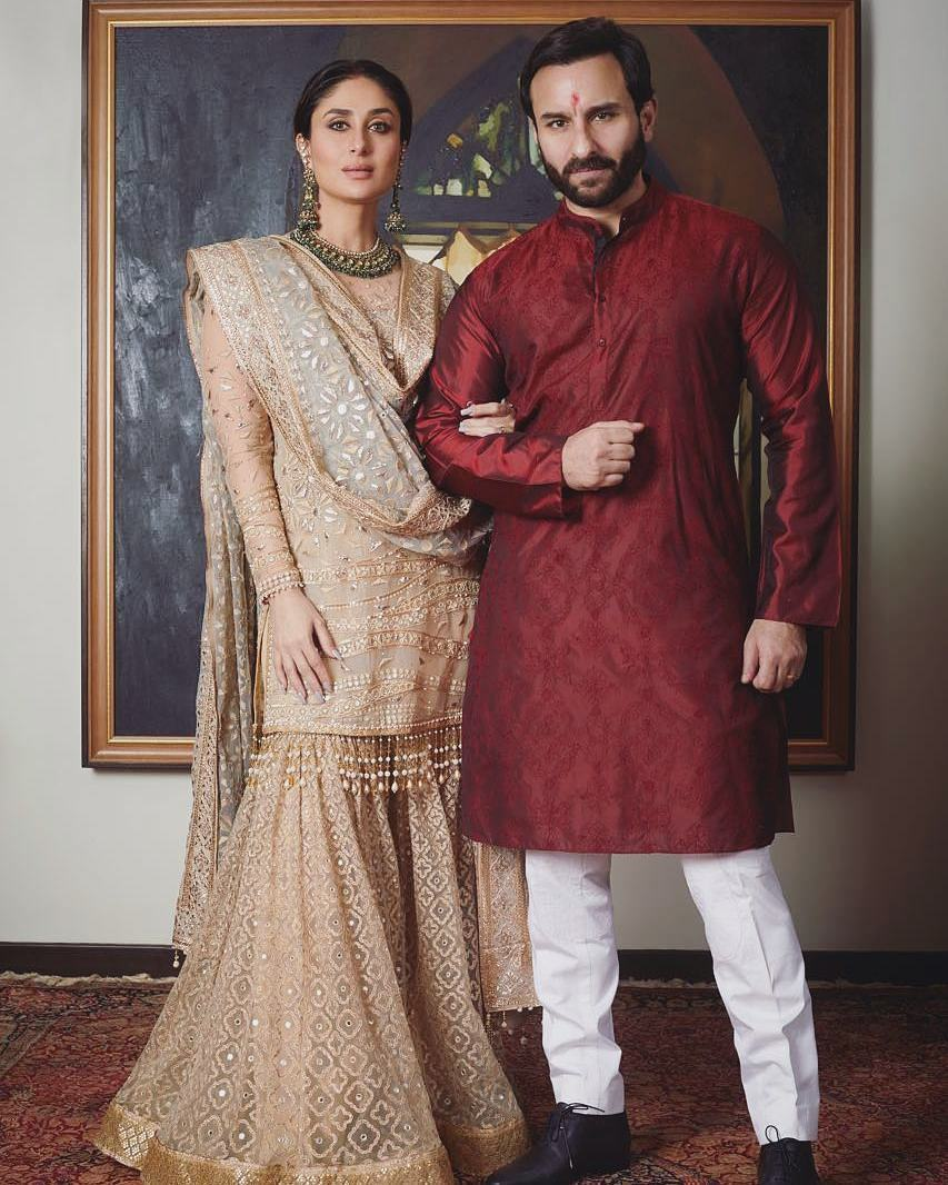 Kareena Kapoor Khan, Saif Ali Khan, Tarun Tahiliani, Saif Kareena Diwali 2017
