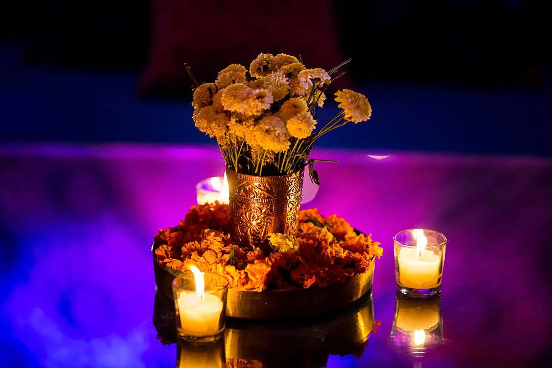 Diwali Décor, Table Layout, Centrepiece