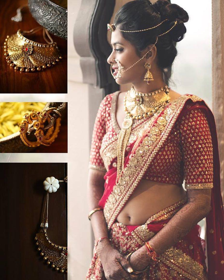 Bride, Indian Bride, Red Saree, Gold Jewellery, Bridal Saree