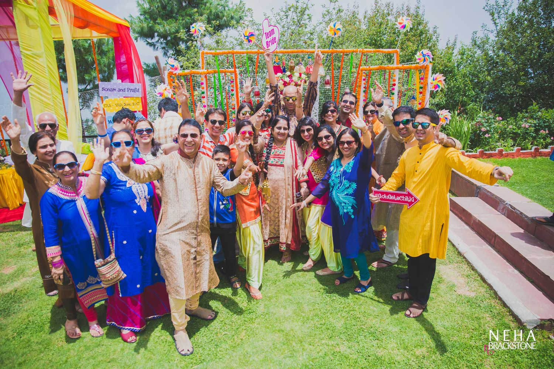 destination wedding, himachal wedding, wedding decor, mehendi decor, photo booth, wedding props