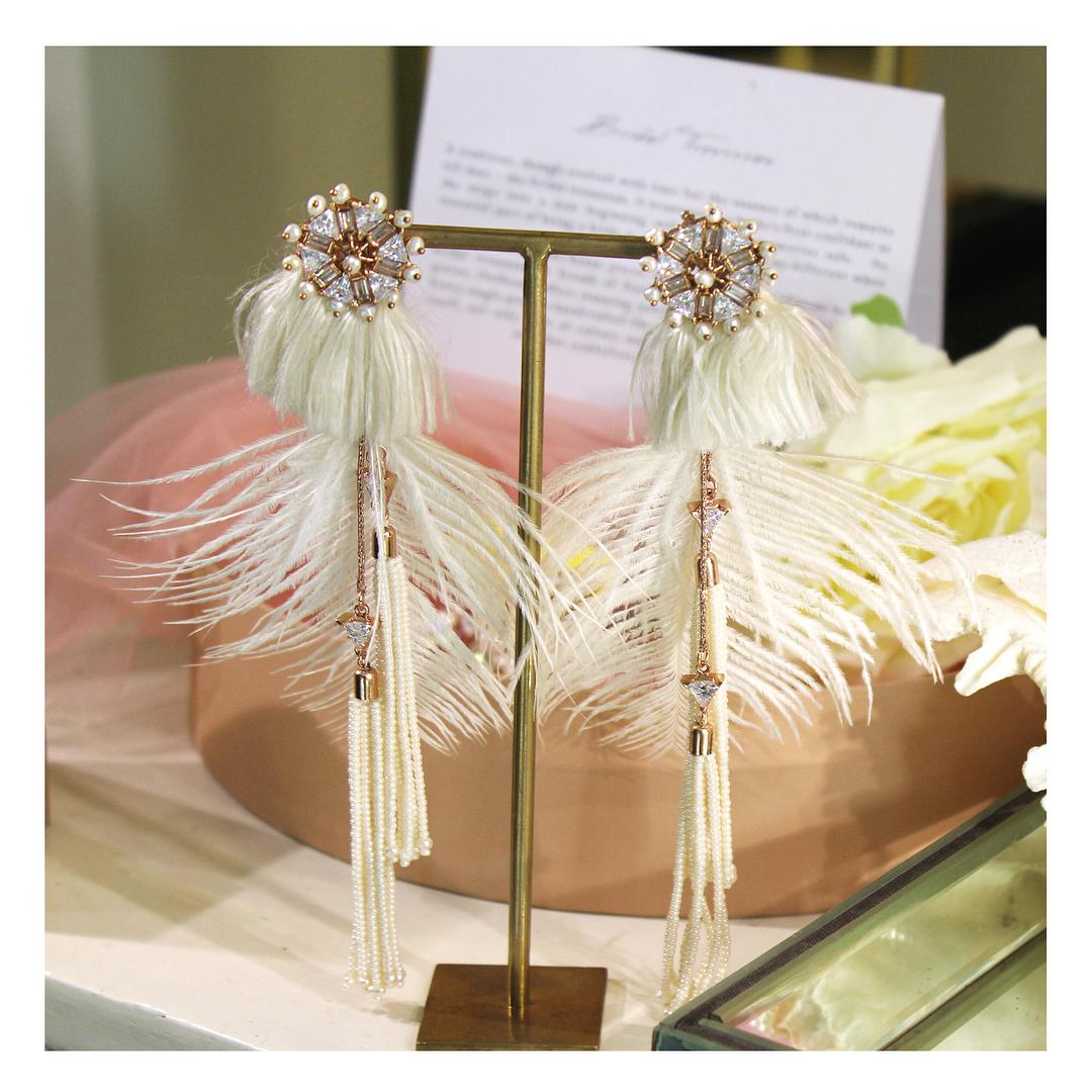 Earrings, Tassels, Pearls, Diamond, Jewellery