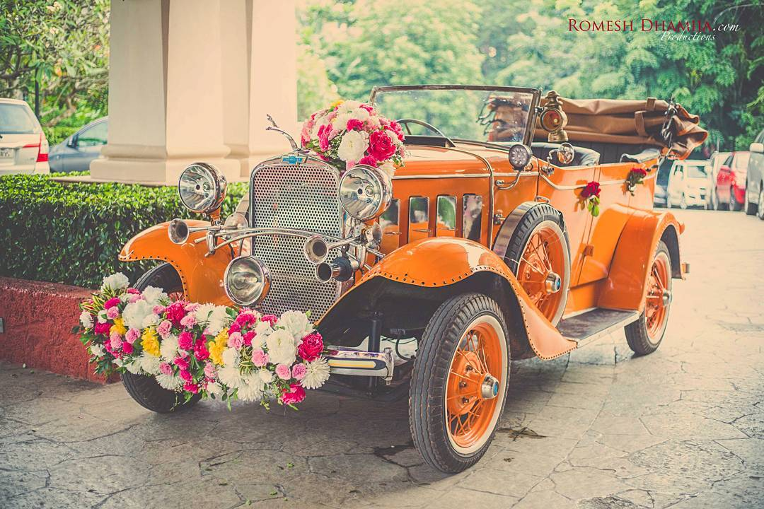 Wedding car, Car Décor, Indian Weddings, Just Married