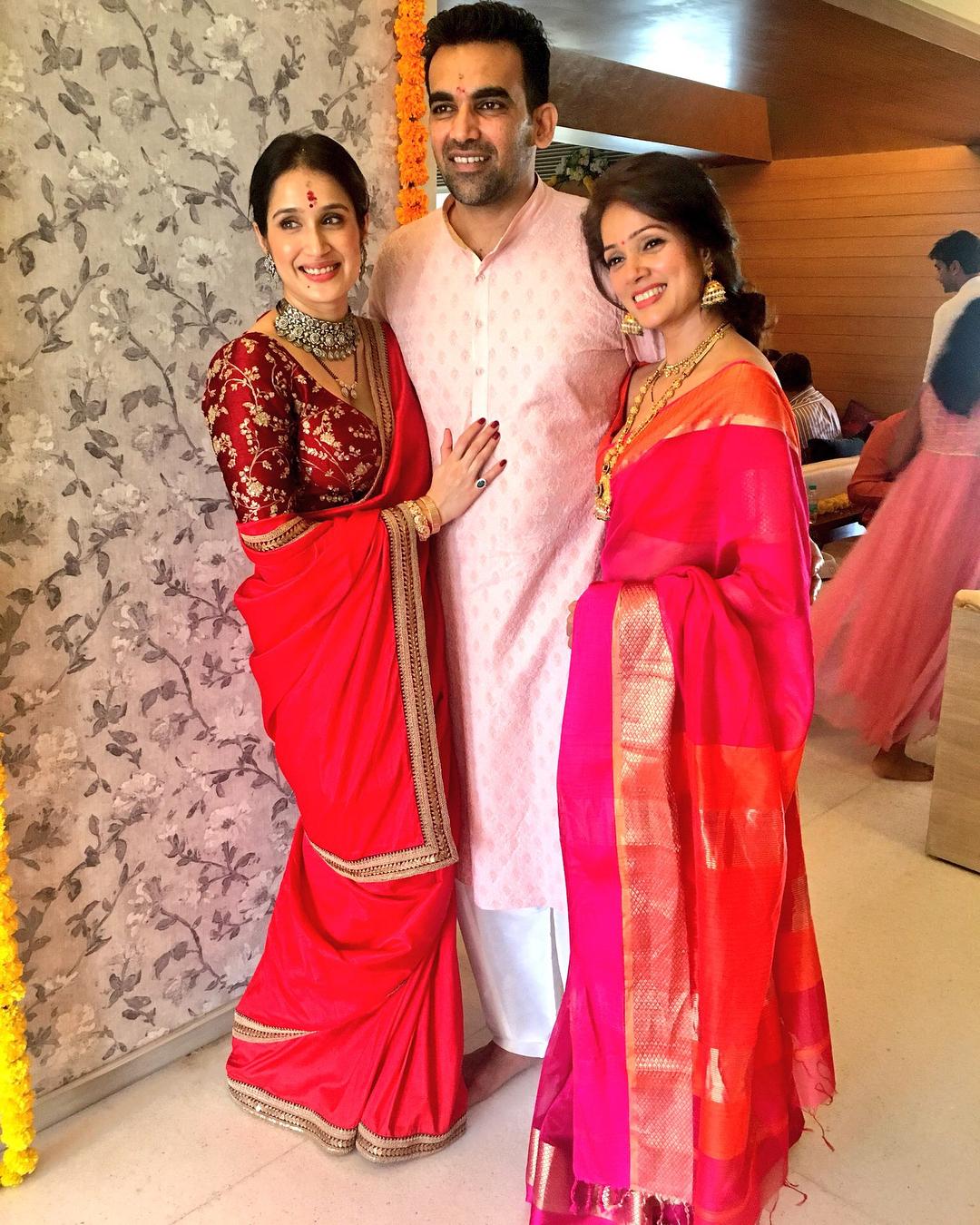 Zaheer Khan, Sagarika Ghatge, Cricketer Wedding, Bollywood Wedding, Celeb Wedding 2017