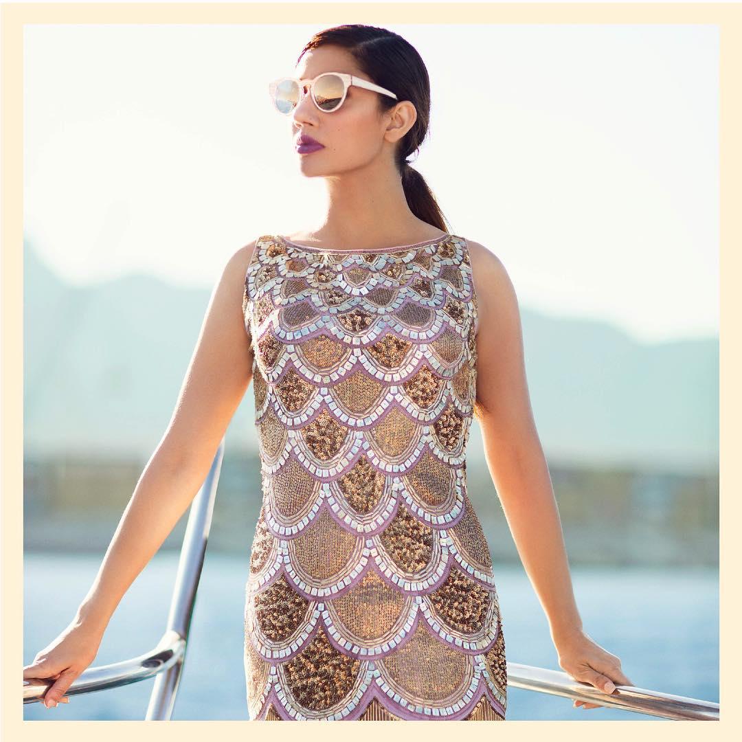 Mahira Khan, Divani India, Bridal Outfit, Cocktail Dress, Golden Dress