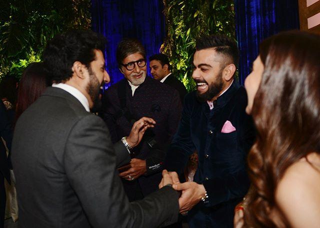 Virat Kohli, Anushka Sharma, Virushka Reception, Amitabh Bachchan, Abhishek Bachchan, Aishwarya Rai Bachchan,