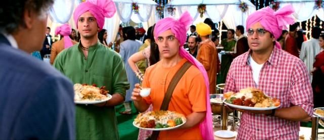 Aamir Khan, R Madhavan, Sharman Joshi, 3 Idiots