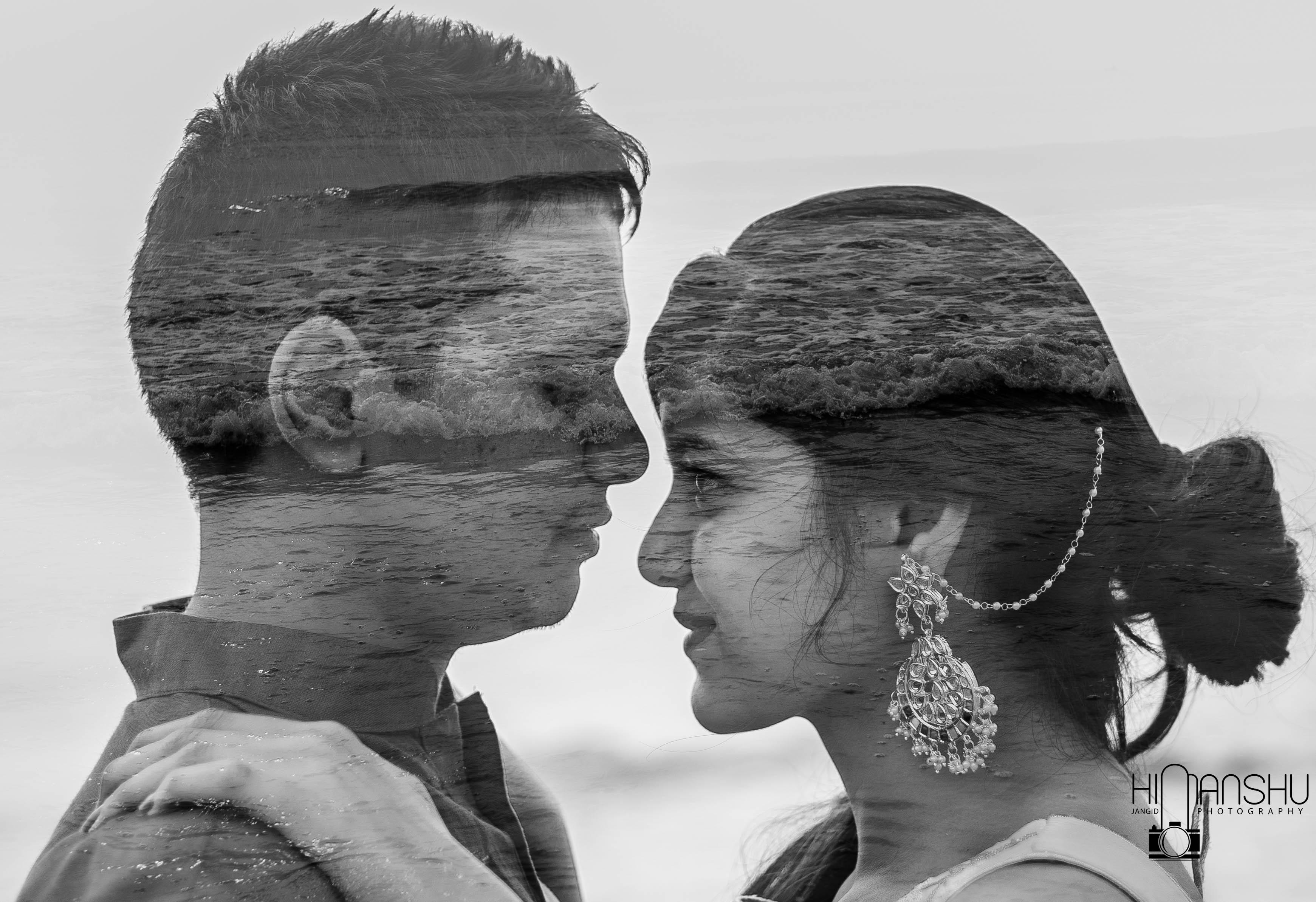 Himanshu Jangid Photography, Wedding Album, Wedding Photography, Double Exposure Photography