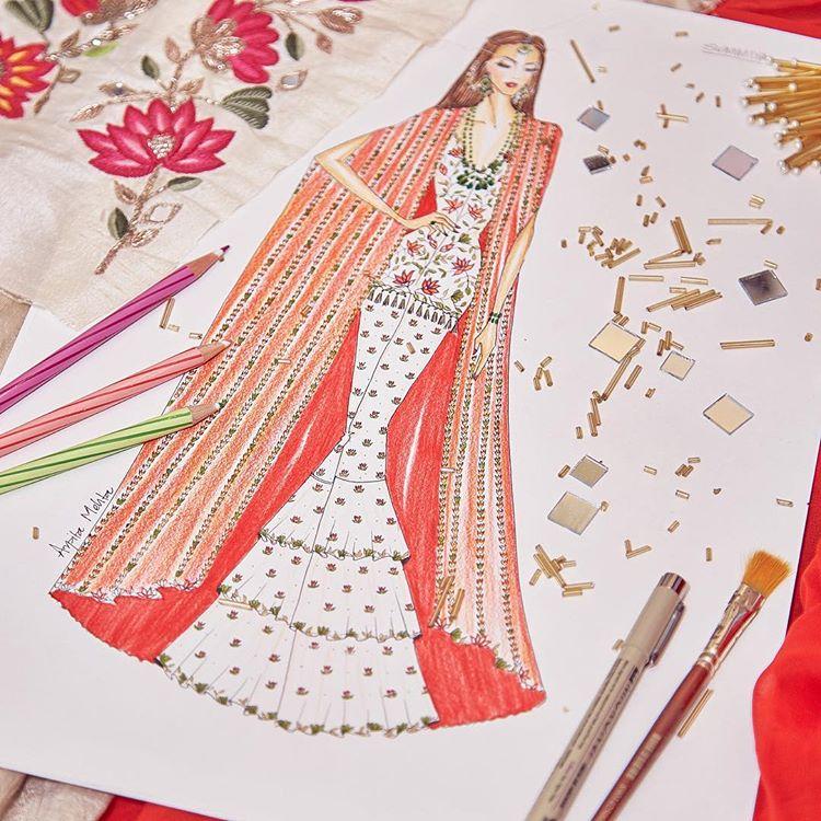 Blogger bride, Mehendi outfit, House of Misu Bride, Indian Blogger Bride