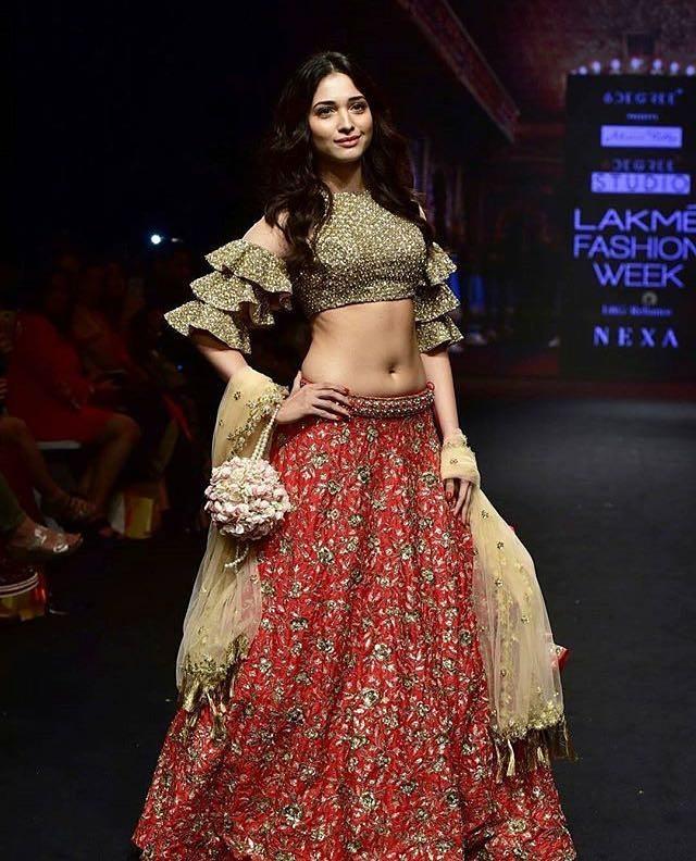 Tamannaah Bhatia, Lakme Fashion Week Summer Resort 2018, Lakme Fashion Week, Bridal Lehenga, Bollywood Fashion, Ashwini Reddy