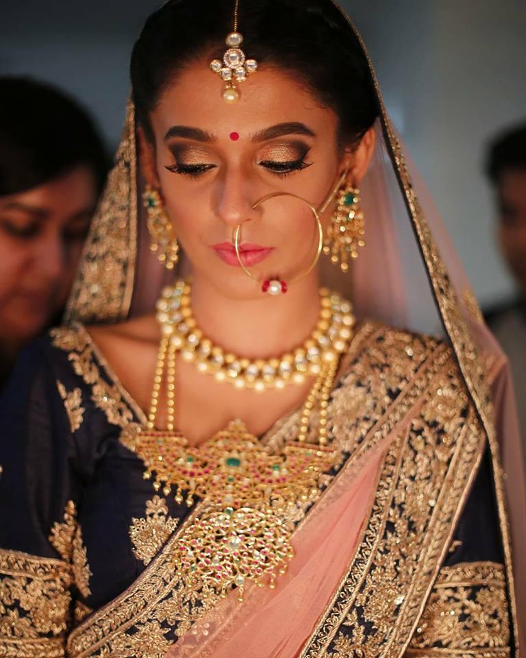 Bridal Makeup, India Bride, Indian Bridal Makeup, Pink Lipstick, Dusky Indian Beauty, Dusky Bride Makeup