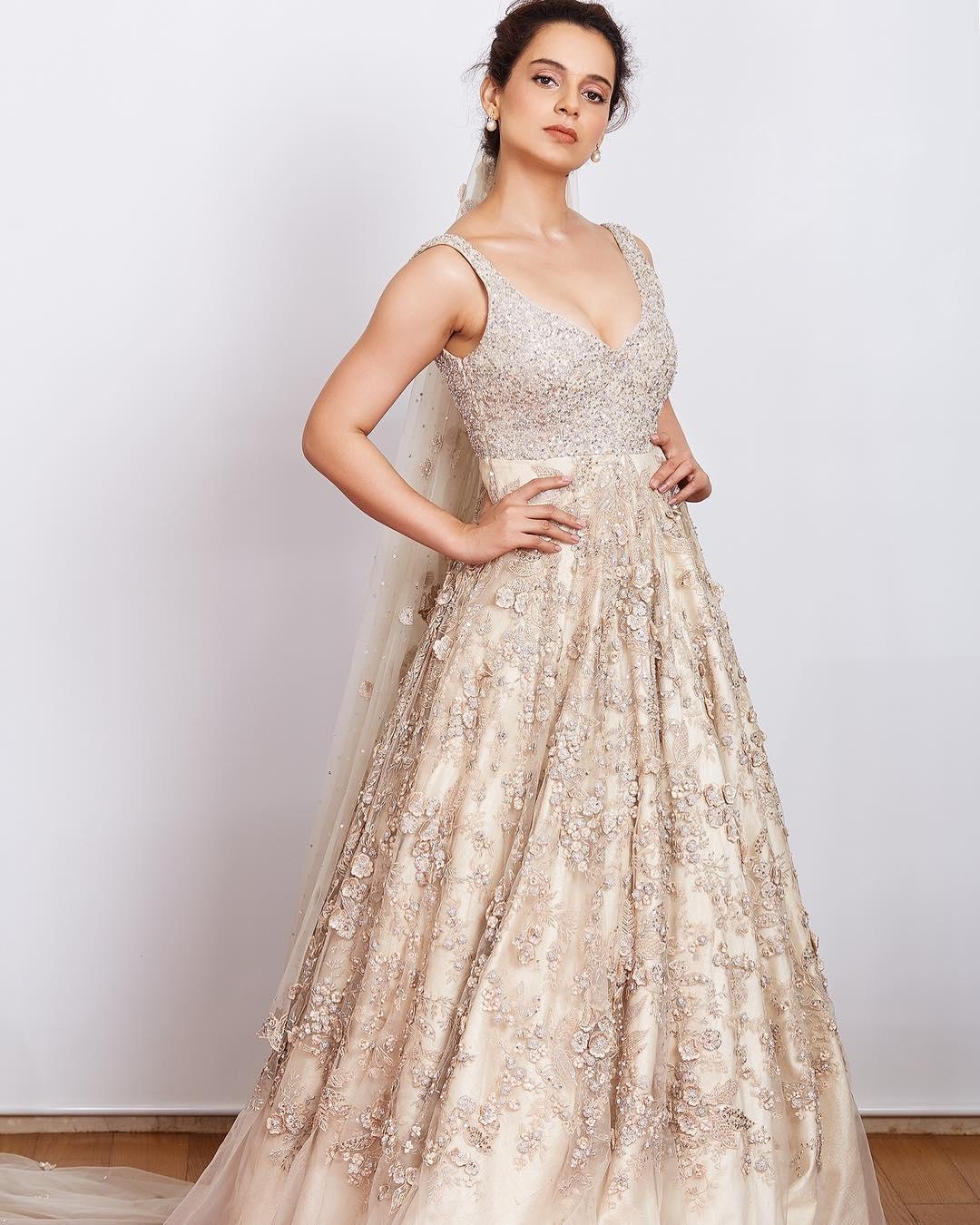 Shyamal and Bhumika, Lakme Fashion Week Summer Resort 2018, Lakme Fashion Week, Bridal Gown, Bollywood Fashion, Kangana Ranaut