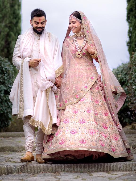 Bridal Lehenga, Virat and Anushka Italy Wedding
