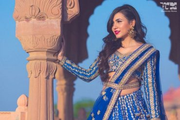 Blue Bridal Lehenga