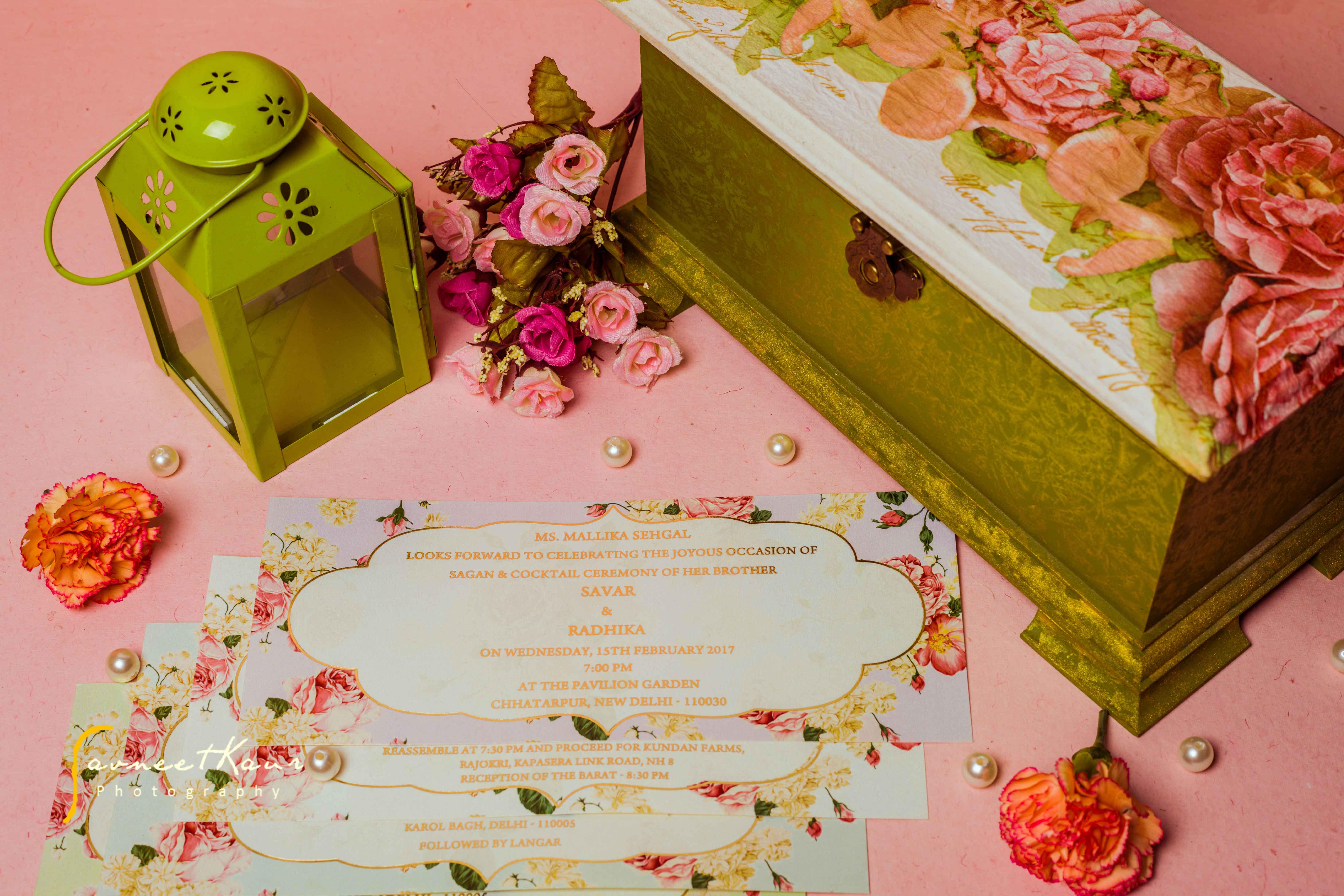 Wedding Invites, Wedding Invitation, Wedding Invitation Card, Indian Wedding Invites, Wedding Invites Trends, Wedding Invites Trends 2018, Floral Print, Pastel Wedding Invite, Wedlock Invitations by Ashna Nayyar