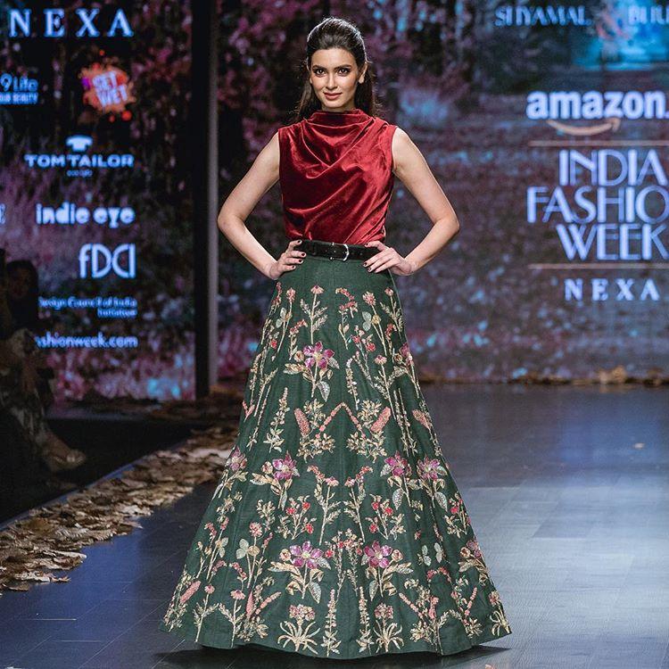Amazon Fashion Week Autumn Winter 2018 Wedding Outfit Shyamal Bhumika Diana Penty