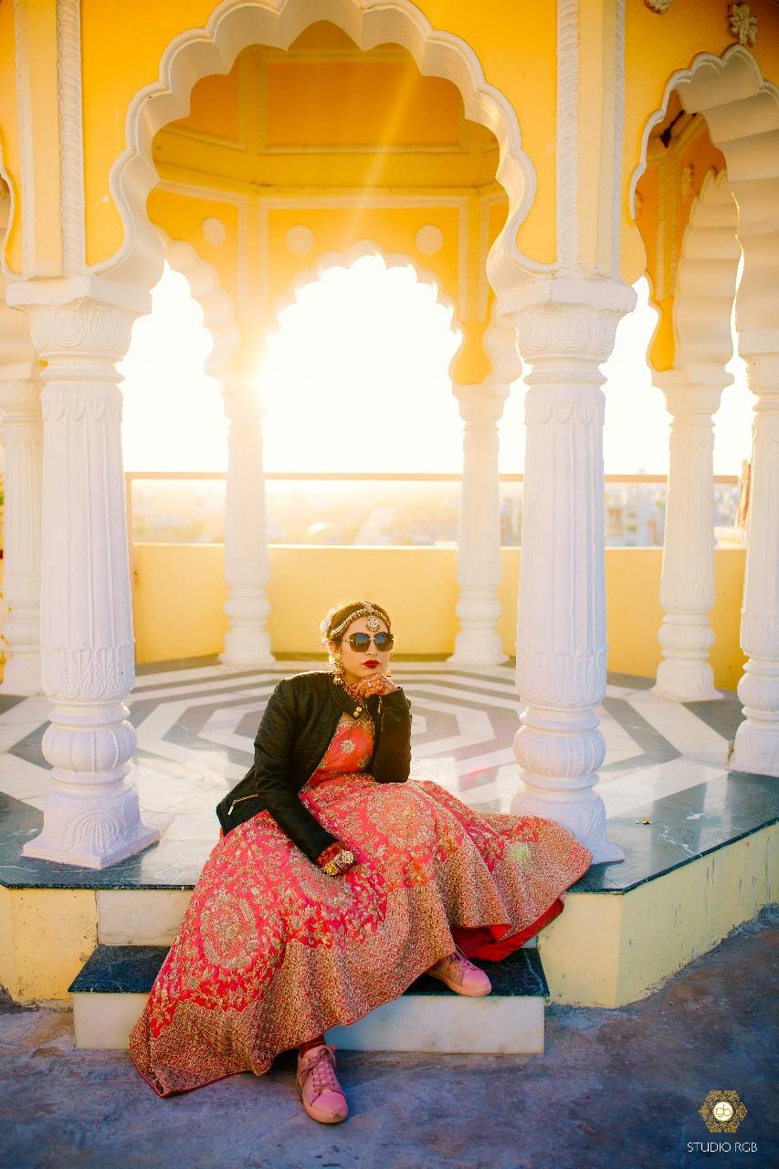 bridal lehenga, Sunehree Chandni Chowk, swagger brides, cool brides