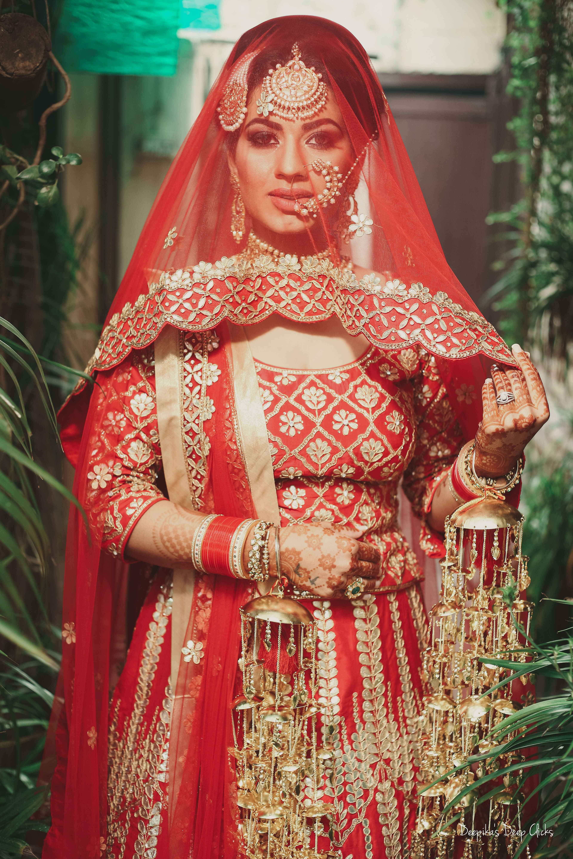 indian bridal lehenga, beautiful indian brides, anita dongre bride, sikh bride