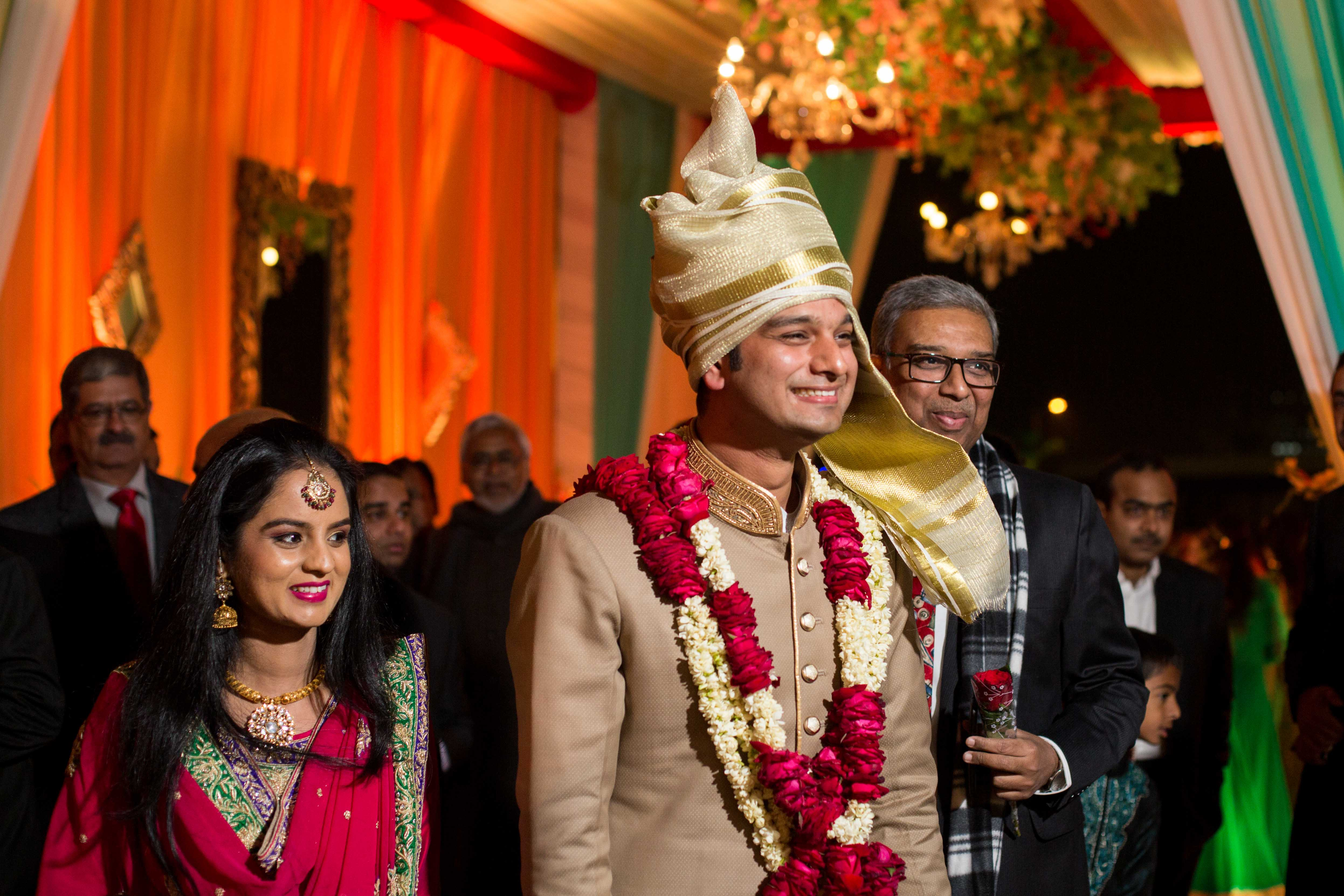 nikah, muslim wedding, muslim groom, groom entry, wedding photographer, camera waale baraati