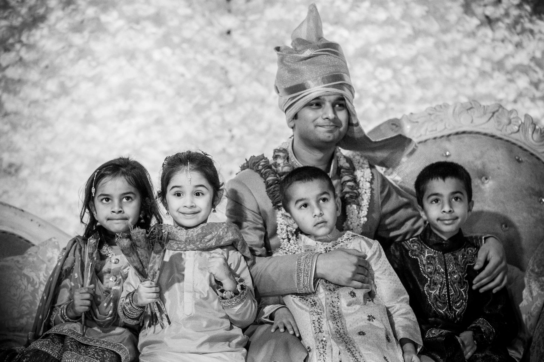nikah, muslim groom, cute kids at wedding, black and white photography, wedding