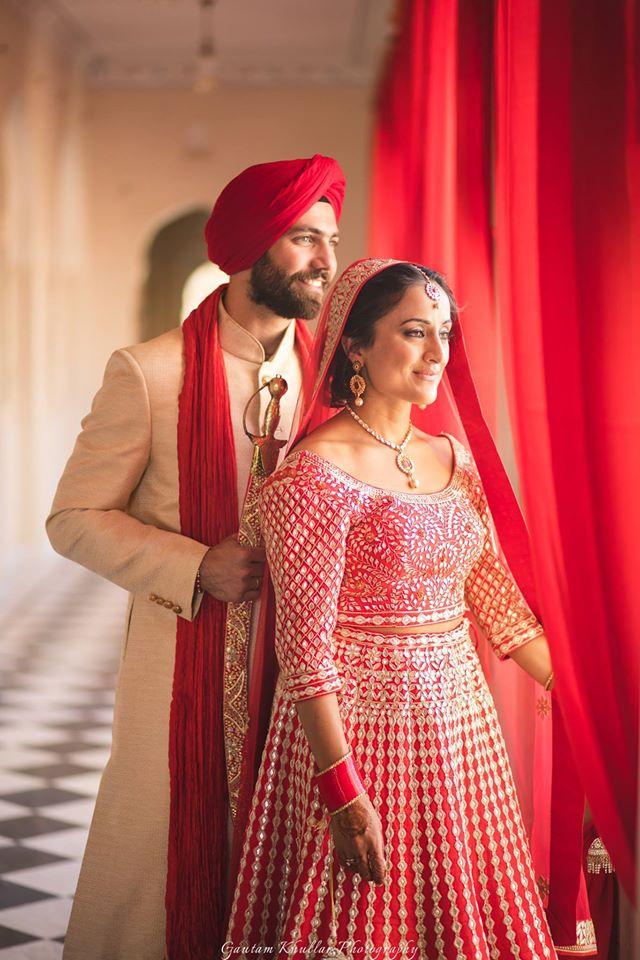 beautiful indian brides, indian bridal lehenga, sikh bride