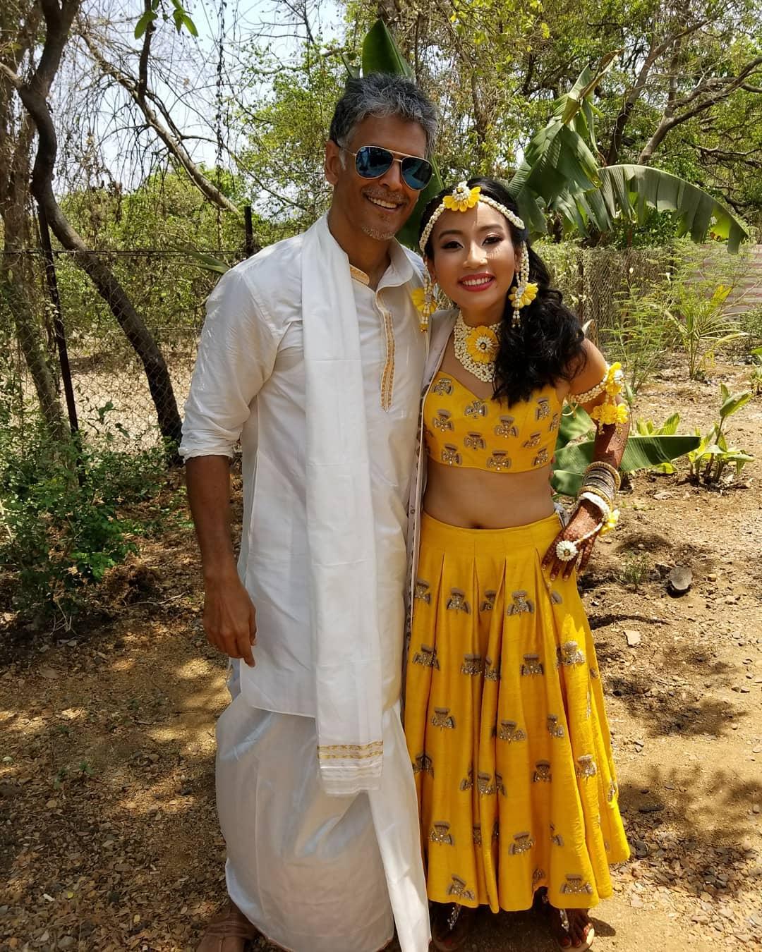 milind soman wedding, mehendi ceremony, ankita and milind