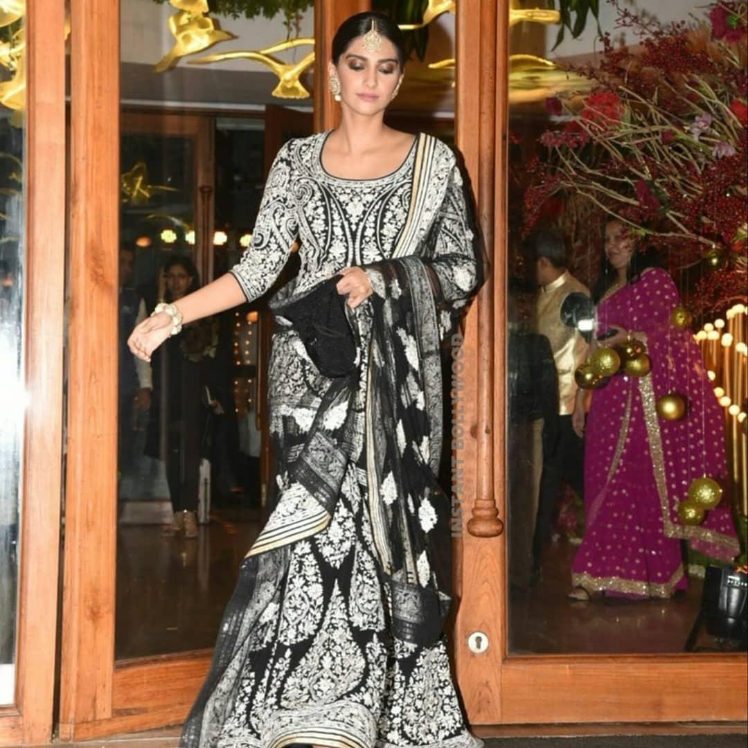celebrity wedding, abu jani Sandeep khosla, saudamini mattu reception, sonam Kapoor