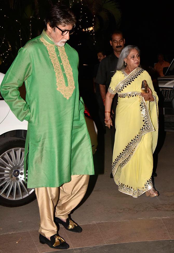 celebrity wedding, abu jani Sandeep khosla, saudamini mattu reception, Amitabh bachchan, jaya bachchan