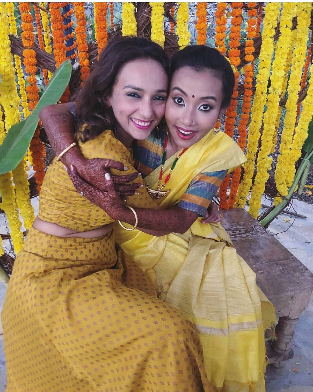 haldi, milind soman and ankita konwar, milind soman wedding photos
