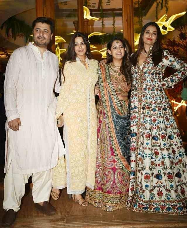 celebrity wedding, abu jani Sandeep khosla, saudamini mattu reception, aishwarya rai bachchan, sonali bendre, goldie behl