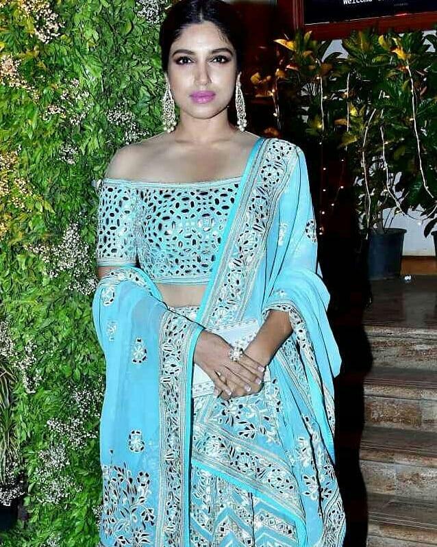 celebrity wedding, abu jani Sandeep khosla, saudamini mattu reception, bhumi pednekar