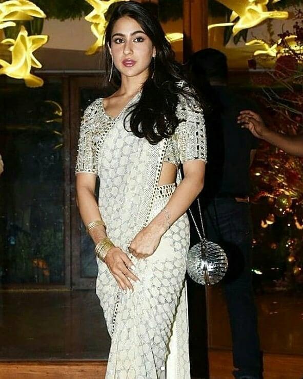 celebrity wedding, abu jani Sandeep khosla, saudamini mattu reception, sara ali khan