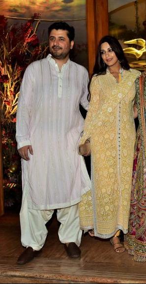 celebrity wedding, abu jani Sandeep khosla, saudamini mattu reception, sonali bendre, goldie behl