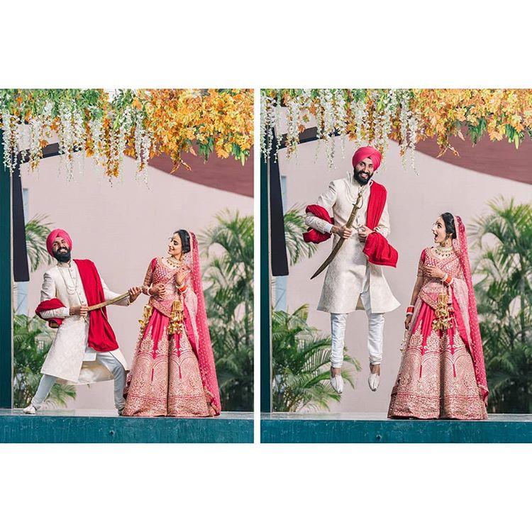 couple portrait, sikh couple, sikh wedding photography