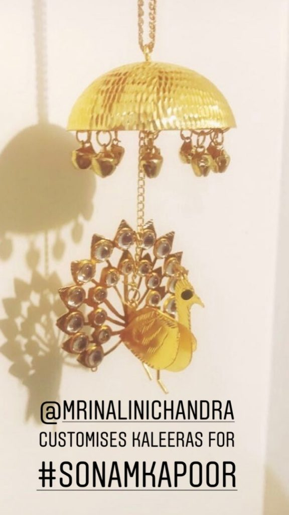 Sonam Kapoor mehendi, Sonam Kapoor Kalire, Kalire design, Mrinalini Chandra label