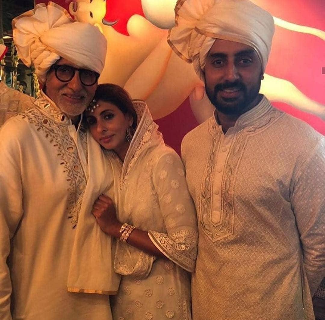 sonam Kapoor wedding, amitabh bachchan, abhishek bachchan, shweta nanda