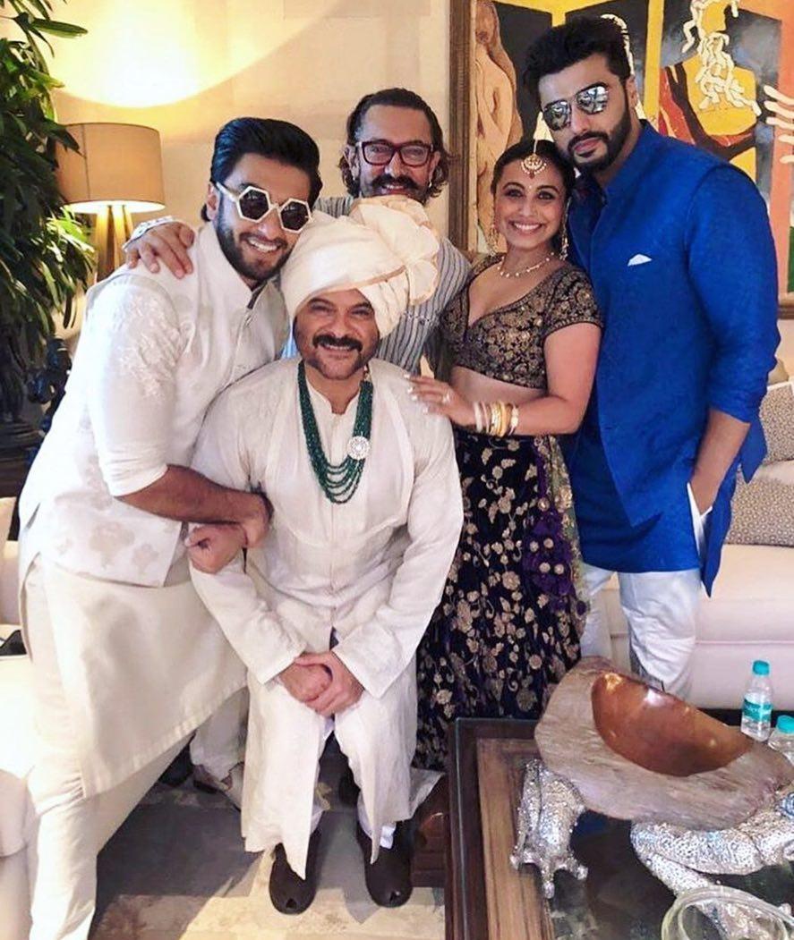 sonam Kapoor wedding, ranvir singh, Arjun Kapoor, rani mukerji, anil Kapoor, aamir khan